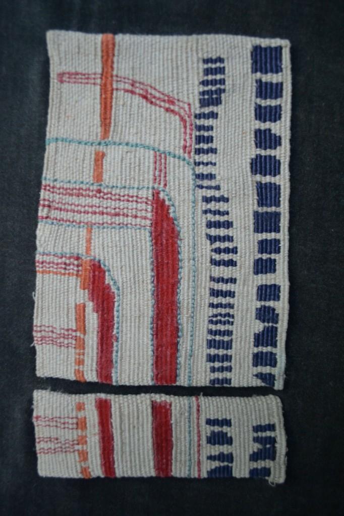 """Gemini II 17.5x13.5"""" Linen, rayon, silk Tapestry weaving"""